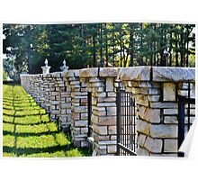 Stone Fencing Poster