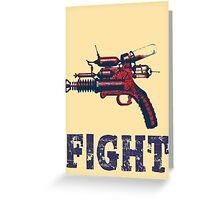 FIGHT steam punk science fiction gun 2012 Greeting Card