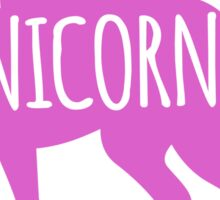 Crazy Unicorn lady in purple Sticker