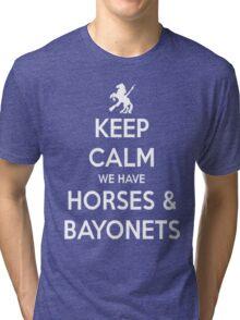 Horses and Bayonets (White Text) Tri-blend T-Shirt