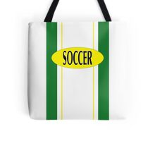 Soccer in green & yellow for the fan Tote Bag