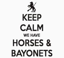 Horses and Bayonets (Black Text) by triforce15