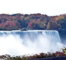 The American Falls at Niagara Falls in autumn by Junec
