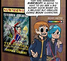 Scott Pilgrim loves Tek Jansen by andyjhunter