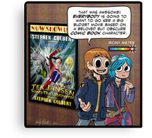 Scott Pilgrim loves Tek Jansen Canvas Print