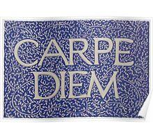 Carpe Diem Light Blue Poster