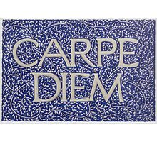Carpe Diem Light Blue Photographic Print