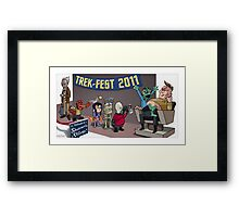 HellBoy geeks out at TrekFest Framed Print