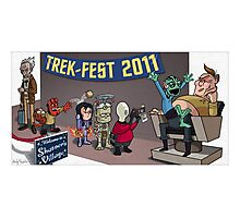 HellBoy geeks out at TrekFest Photographic Print