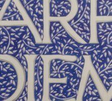 Carpe Diem Light Blue Sticker