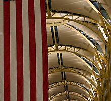 A Flag In An Airport by Cora Wandel