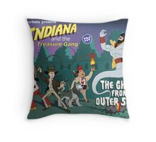 Indiana and the Treasure Gang in The Ghost From Outer Space Throw Pillow