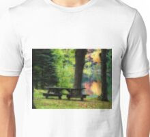 A Picnic Bench Alone Unisex T-Shirt