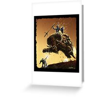R2D2 vs Ganon Greeting Card