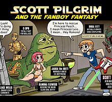 Scott Pilgrim and the Star Wars fantasy by andyjhunter