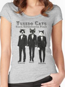 Tuxedo Cats Women's Fitted Scoop T-Shirt