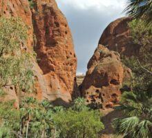 Walk to Echidna Chasm walk, Purnululu National Park, Western Australia Sticker