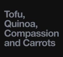 Tofu, Quinoa, Compassion and Carrots Baby Tee
