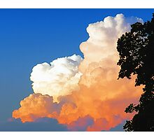 Sunkissed Storm Cloud Photographic Print
