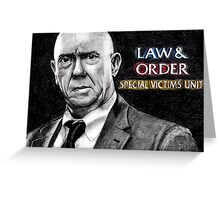 Donald Cragen Law and Order SVU Greeting Card
