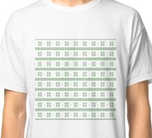 White and green knitted christmas snowflakes seamless pattern Classic T-Shirt
