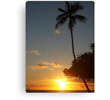 Aloha, Hawaiian Sunset,  Canvas Print