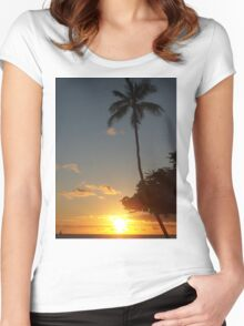 Aloha, Hawaiian Sunset,  Women's Fitted Scoop T-Shirt