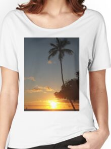 Aloha, Hawaiian Sunset,  Women's Relaxed Fit T-Shirt