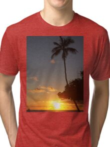 Aloha, Hawaiian Sunset,  Tri-blend T-Shirt