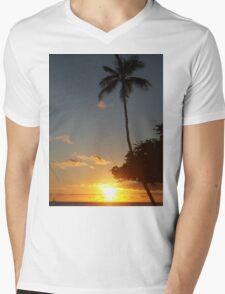 Aloha, Hawaiian Sunset,  Mens V-Neck T-Shirt
