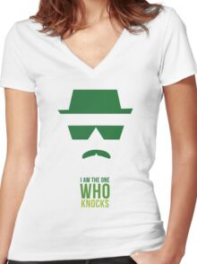 BREAKING BAD/ I AM THE ONE WHO KNOCKS Women's Fitted V-Neck T-Shirt