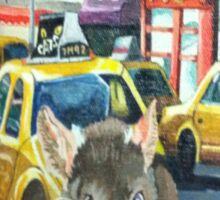 NYC Rat Taxi Sticker