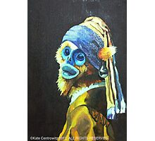Monkey with the Peal Earring Photographic Print