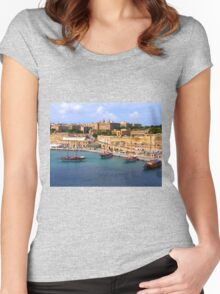 Valetta Harbour Women's Fitted Scoop T-Shirt