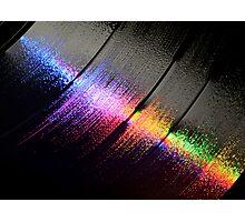 vinyl LP grooves Photographic Print