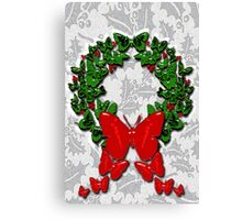 Butterfly wreath Canvas Print