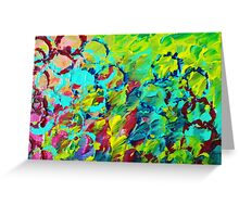 A LITTLE OF THIS - Bright Colorful Abstract Ocean Painting Circle Whimsical Magenta Lime Fun Gift Greeting Card
