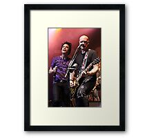 Pat and Jimmy of Train Framed Print