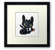 Chibi Toothless Framed Print