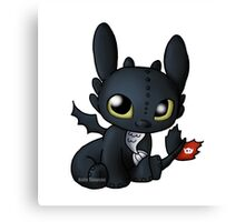 Chibi Toothless Canvas Print
