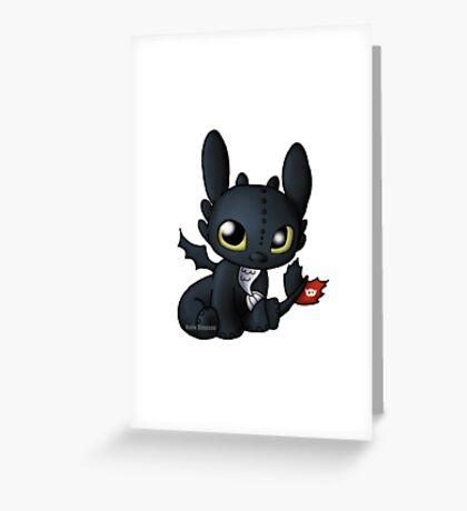 Chibi Toothless Greeting Card