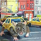NYC Rat Taxi by owlwaltz