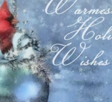 Warmest Holiday Wishes Sticker