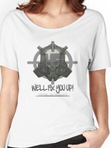 HaloFix Skull Logo 2 Women's Relaxed Fit T-Shirt