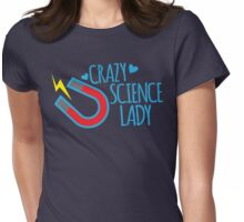 Crazy Science lady Womens Fitted T-Shirt