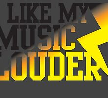 I like my music LOUDER! by jazzydevil