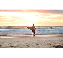 Surfing at Sunrise Photographic Print