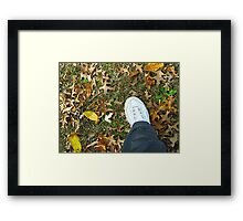 Resolution - To Get Outside and Walk More Framed Print