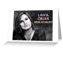 Olivia Benson Law and Order SVU Greeting Card