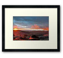 Foggy Cadillac Sunset Framed Print